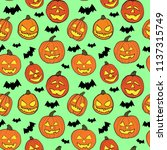 halloween seamless vector... | Shutterstock .eps vector #1137315749