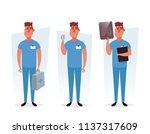 funny cartoon character.... | Shutterstock .eps vector #1137317609