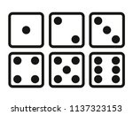 set of dice line icon on white... | Shutterstock .eps vector #1137323153