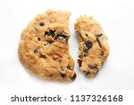 homemade bakery cookie broken... | Shutterstock . vector #1137326168
