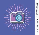 photographic camera icon   Shutterstock .eps vector #1137330164