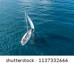 Lonely Isolated Yacht Under Th...