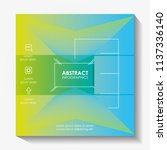 template infographic with... | Shutterstock .eps vector #1137336140