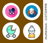 simple 4 icon set of family... | Shutterstock .eps vector #1137339998