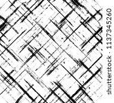 striped grunge plaid halftone... | Shutterstock . vector #1137345260