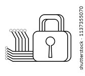 security padlock design | Shutterstock .eps vector #1137355070