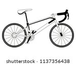 racing bicycle silhouette | Shutterstock .eps vector #1137356438