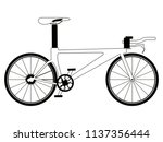 racing bicycle silhouette | Shutterstock .eps vector #1137356444