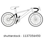 racing bicycle silhouette | Shutterstock .eps vector #1137356450