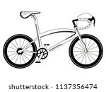racing bicycle silhouette | Shutterstock .eps vector #1137356474