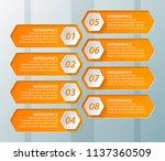 vector abstract 3d paper... | Shutterstock .eps vector #1137360509