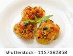 food dish bruschetta cherry... | Shutterstock . vector #1137362858