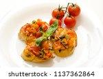 food dish bruschetta cherry... | Shutterstock . vector #1137362864