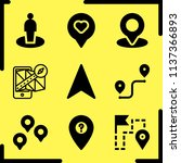 simple 9 icon set of location... | Shutterstock .eps vector #1137366893