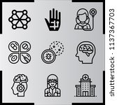 simple 9 icon set of medical... | Shutterstock .eps vector #1137367703