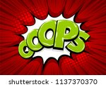 omg ouch oops comic text speech ... | Shutterstock .eps vector #1137370370
