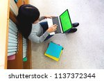 portrait of students studying... | Shutterstock . vector #1137372344
