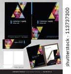 Corporate Identity Business Set. Folder Design Template. Vector illustration.