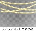 christmas lights isolated... | Shutterstock .eps vector #1137382046