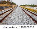 railway station against... | Shutterstock . vector #1137383210