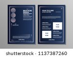 blue navy abstract geometric... | Shutterstock .eps vector #1137387260