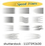 Set Of Speed Lines. Design...