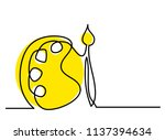 continuous line drawing of a... | Shutterstock .eps vector #1137394634