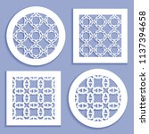 templates for laser cutting ... | Shutterstock .eps vector #1137394658