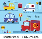 vector set of vehicles cartoon   Shutterstock .eps vector #1137398126
