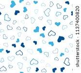 dark blue vector seamless... | Shutterstock .eps vector #1137400820