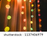 colorful cotton ball lights... | Shutterstock . vector #1137406979