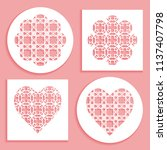 templates for laser cutting ... | Shutterstock .eps vector #1137407798