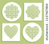 templates for laser cutting ... | Shutterstock .eps vector #1137407804