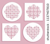 templates for laser cutting ... | Shutterstock .eps vector #1137407810