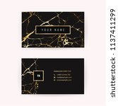 luxury business card with... | Shutterstock .eps vector #1137411299
