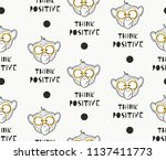seamless vector pattern with... | Shutterstock .eps vector #1137411773