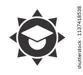 graduation hat icon. education... | Shutterstock .eps vector #1137418538