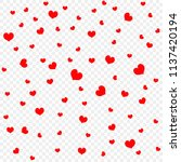 red heart petals background ... | Shutterstock .eps vector #1137420194