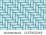 colorful seamless herringbone... | Shutterstock . vector #1137422243