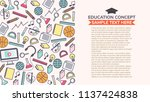 learning concept with copy... | Shutterstock .eps vector #1137424838