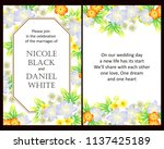 invitation greeting card with... | Shutterstock . vector #1137425189
