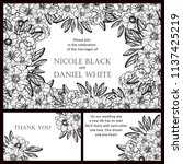 invitation greeting card with... | Shutterstock . vector #1137425219