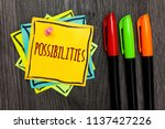 text sign showing possibilities.... | Shutterstock . vector #1137427226