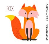 wild forest fox childish... | Shutterstock .eps vector #1137440399