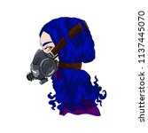 beautiful girl in respirator.... | Shutterstock .eps vector #1137445070