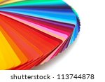Rainbow Color Palette Isolated...
