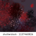 contemporary art. hand made art.... | Shutterstock . vector #1137460826