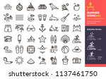 summer icons  beach vacations.... | Shutterstock .eps vector #1137461750