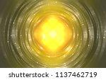 infinite round tunnel on gold... | Shutterstock . vector #1137462719
