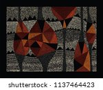 aboriginal art vector... | Shutterstock .eps vector #1137464423
